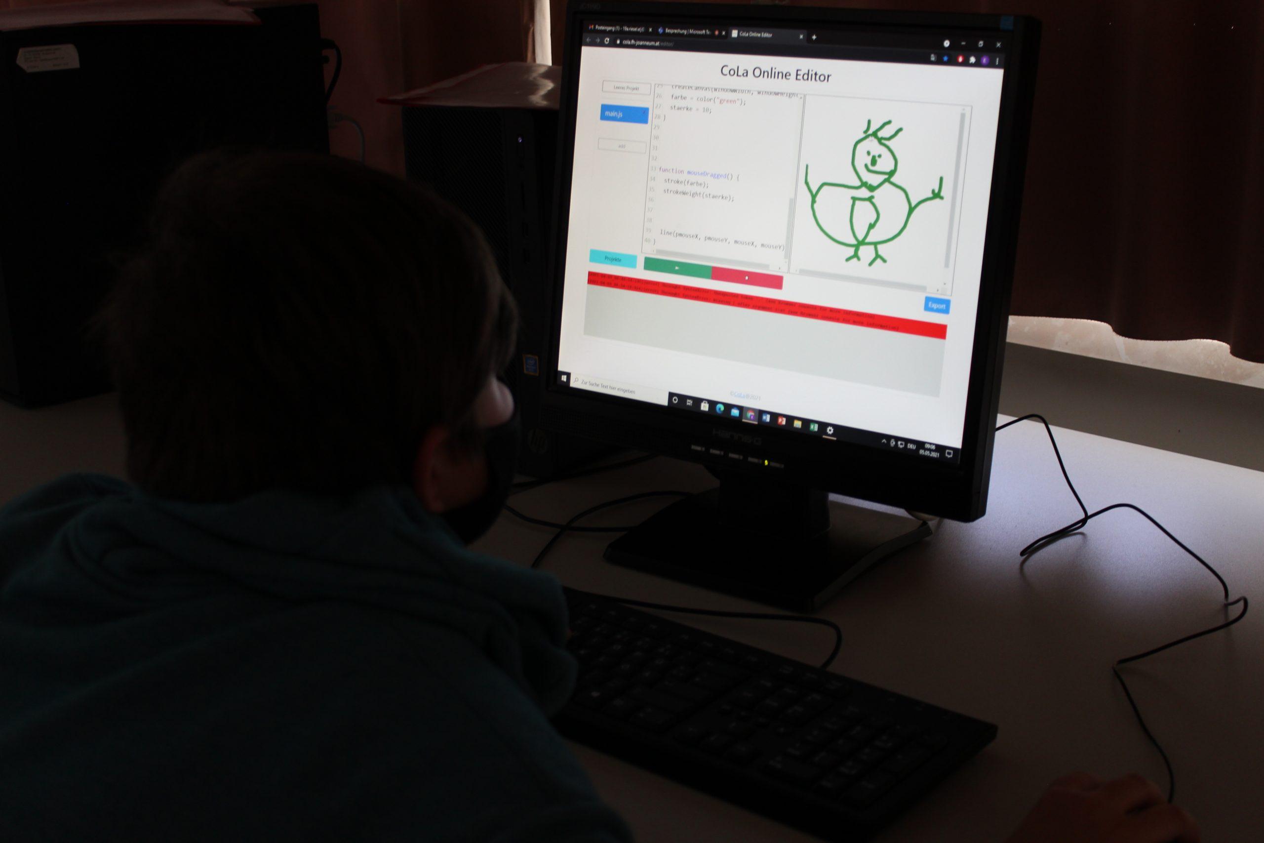 Schülerinnen und Schüler der MS Körner nahmen am Codingworkshop der FH JOANNEUM teil.